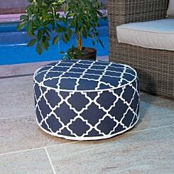 Charles Bentley Inflatable Foot Stool Navy Blue