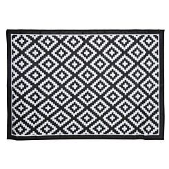 Charles Bentley Outdoor Rug 160x230cm Black and White