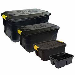 Charles Bentley Strata Heavy Duty Box Bundle 145L, 75L, 24L plus Caddy