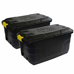 Charles Bentley Strata Heavy Duty Trunk with Wheels 75L Set of 2