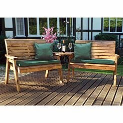 Charles Taylor Twin Angled Bench Set with Cushions