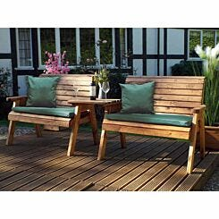 Charles Taylor Twin Straight Bench Set with Cushions
