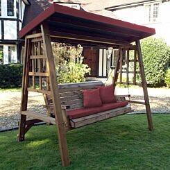 Charles Taylor Dorset Three Seat Swing Burgundy
