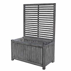 Rowlinson Alderley Rectangular Planter with Trellis