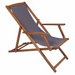 Charles Bentley FSC Eucalyptus Wooden Deck Chair