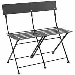 Charles Bentley 2 Seater Folding Metal Bench