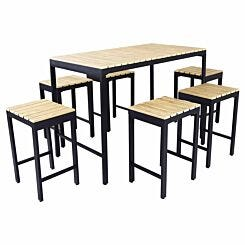 Charles Bentley Polywood 6 Seater Bar Style Dining Set