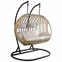Charles Bentley Natural Double Hanging Swing Chair