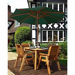 Charles Taylor Four Seater Rectangular Table Set with Parasol