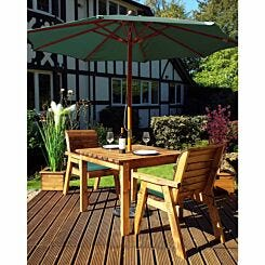 Charles Taylor Two Seater Square Table Set and Parasol