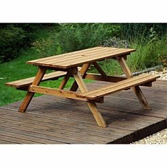 Charles Taylor Six Seater Wooden Picnic Table