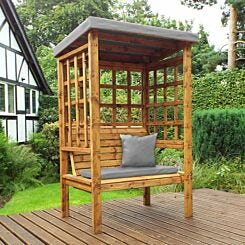 Charles Taylor Bramham Two Seat Arbour Grey