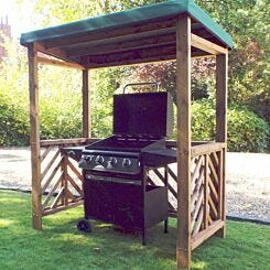 Charles Taylor Dorchester BBQ Shelter with Cover Green