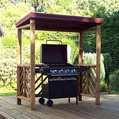 Charles Taylor Dorchester BBQ Shelter with Cover Burgundy