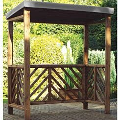 Charles Taylor Dorchester BBQ Shelter with Cover Grey