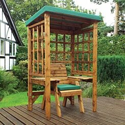 Charles Taylor Wentworth Single Seat Arbour with Cover Green