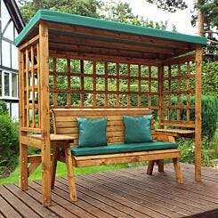Charles Taylor Wentworth 3 Seat Arbour with Cover