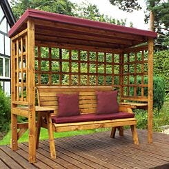 Charles Taylor Wentworth 3 Seat Arbour with Cover Burgundy