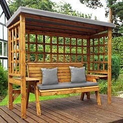 Charles Taylor Wentworth 3 Seat Arbour with Cover Grey