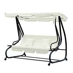 Alfresco 2-in-1 3 Seater Swing Chair with Canopy