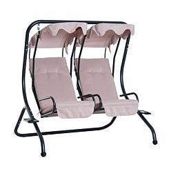 Alfresco 2 Seater Swing Chair with Removable Canopies