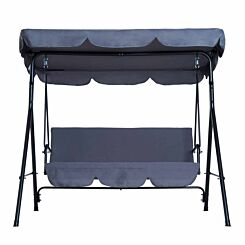 Alfresco 3 Seater Swing Chair with Canopy Grey