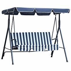 Alfresco 3 Seater Swing Chair with Canopy Blue