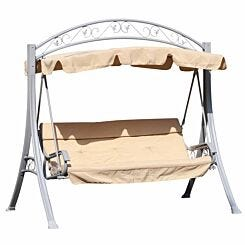 Alfresco 3 Seater Swing Chair with Canopy with Decorative Frame