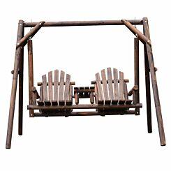 Alfresco 2 Seater Wooden Porch Swing Seat