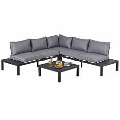 Alfresco Corner Garden Sofa Set with Coffee Table