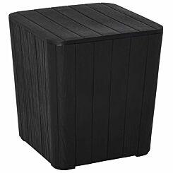 Alfresco Wood Effect Garden Storage Table 50 Litres Black
