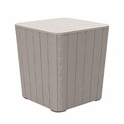Alfresco Wood Effect Garden Storage Table 50 Litres Grey