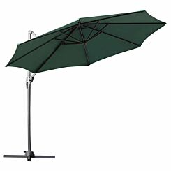 Alfresco Roma Cantilever Parasol with 360 Degree Rotation Green