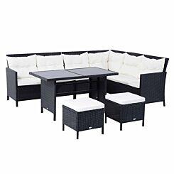 Alfresco 6 Piece Rattan Garden Sofa Set