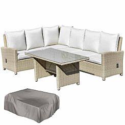Alfresco 5 Piece Reclining Rattan Garden Sofa Set