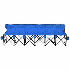 Alfresco 6 Seat Folding Camping Chair Blue