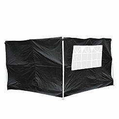 Alfresco Garden Gazebo Replacement Side Panels Pack of 2 Black