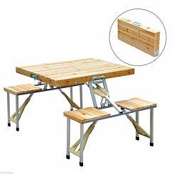 Alfresco Portable Wooden Camping Table