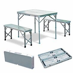 Alfresco Aluminium Folding Picnic Table and Bench Set Grey