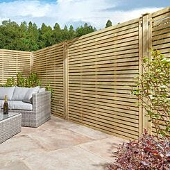 Rowlinson Ledbury Screen Fence 6ft x 6ft Pack of 3 Natural Timber