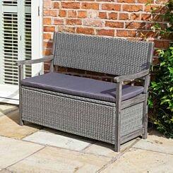 Rowlinson Alderley Rattan Outdoor Storage Bench