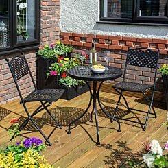 Rowlinson Havana Steel 3 Piece Garden Bistro Set