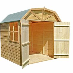 Shire FSC Dutch Barn Shed with Double Doors and Window 7 x 7 ft