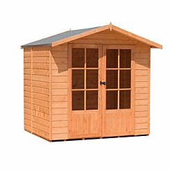 Shire FSC Lumley Shiplap Summerhouse with Double Doors 7 ft x 5 ft