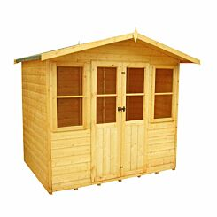 Shire FSC Haddon Shiplap Summerhouse with Double Doors and Windows 7 x 5 ft