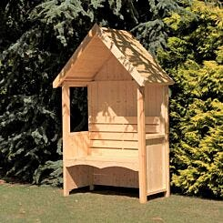 Shire FSC Forget Me Not Pressure Treated Garden Arbour with Bench