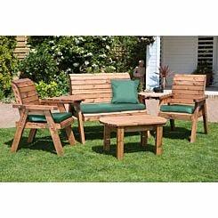 Charles Taylor Four Seater Garden Furniture Set Green