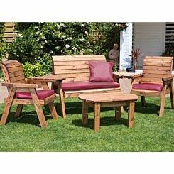 Charles Taylor Four Seater Garden Furniture Set Burgundy