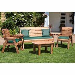 Charles Taylor Five Seater Garden Furniture Set Green