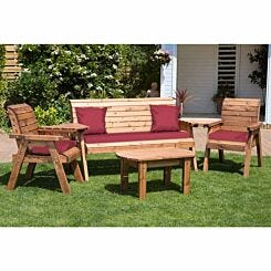 Charles Taylor Five Seater Garden Furniture Set Burgundy